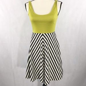 Judith March Stripe Fit & Flare Dress Size Small